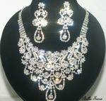 Princess Nofret - Dazzling rhinestone necklace set - SPECIAL