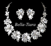 Princess Zaria - STUNNING CZ wedding necklace set - RENTAL