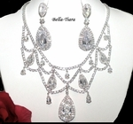 Princessmarie - STUNNING!! COUTURE CZ wedding necklace set  - ONE LEFT