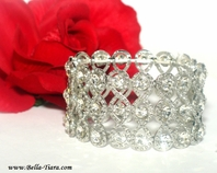 Queen - Beautiful victorian bridal stretch wide bracelet - SPECIAL ONE left
