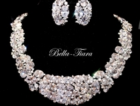 Queen Elenoire - Dramatic Cubic Zirconia Statement bridal necklace - RENTAL