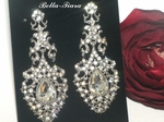 Queen Ella - vintage swarovski crystal bridal earrings - SPECIAL price