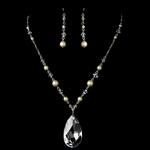 Rachela - Bold and couture ivory pearl necklace set - SALE