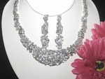Radiant - GLAMOROUS CZ wedding necklace set - SALE