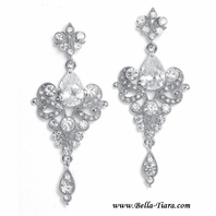Ramona - Vintage crystal chandelier Bridal Earrings - SALE!!