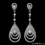 Rapunzel - Radiant Cubic Zirconia drop earrings - SALE