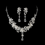 Rashanda - STUNNING swarovski crystal drop Bridal Necklace set