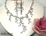 REGINA - CZ VINE DREAMS BRIDAL NECKLACE SET - SPECIAL!!