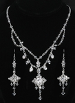 Renella - Vintage Swarovski crystal wedding necklace set - SALE