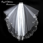 Rennaissance Royal Collection - Crystal embroidered edge bridal veil - SALE!!