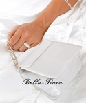 Rhinestone Strap Ivory or white Bridal Satin Purse - SALE