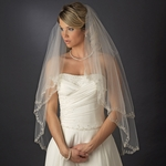 Rinetta - Beautiful 2-tier vintage embroidered wedding veil - SALE!!