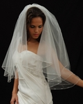 Riva - Couture elegance crystal beaded edge wedding veil - SALE