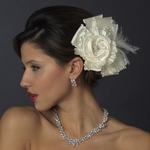 Riva-Royal Collection Ivory couture wedding clip hair flower - GREAT PRICE