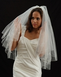Rochelle - Designer two tier crystal vine wedding veil - SALE - Marionat 991