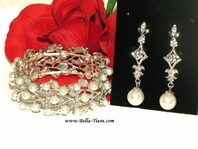 Romance - Beautiful light ivory pearl earring set - SPECIAL