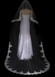 Romantic beaded edge lace wedding cathedral veil - SPECIAL a few left
