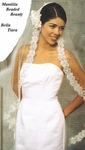 Romantic Crystal Beaded Mantilla Bridal veil - SALE!!