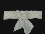 Romantic high end vintage lace beaded wedding sash - SALE
