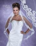 Romantic lace beaded edge wedding veil - SPECIAL