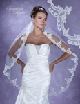 Romantic lace edge wedding veil - SALE