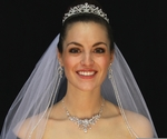 Romantic  Queen Swarovski tiara, neckace and veil set - SPECIAL