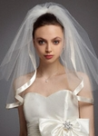 Romia - Beautiful 2 tier satin edge wedding veil - SPECIAL