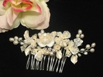 Rosabella- BEAUTIFUL Ivory Vintage Floral Crystal bridal comb - NEW!!