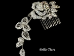 ROSABELLA - GORGEOUS Vine Rose Crystal Bridal hair comb - SPECIAL
