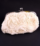 Rosabellina - Beautiful ivory rose wedding purse - SALE