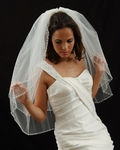 Rosalinda - Beautiful 2-tier beaded edge - Marionat wedding veil - SALE