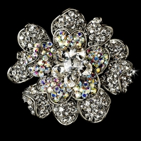 Rosetta-Gorgeous Crystal Hair Accessory or brooch