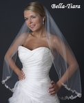 Royal Collection - Amaris - Ivory Fingertip Veil with Beaded Edge