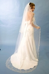 Royal Collection - Breathtaking 2 tier swarovski edge wedding veil - SALE