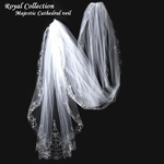 Royal Collection - BREATHTAKING beaded edge cathedral bridal veil  SALE!!