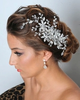 Royal Collection - Dazzling Swarovski crystal bridal comb - SALE!!