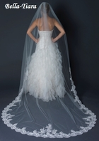 Royal Collection - Deana - Ivory Cathedral Veil with Lace