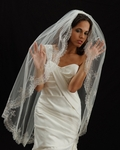 Royal Collection - Desideria - New!! AMAZING Beaded scalloped wedding veil - SALE