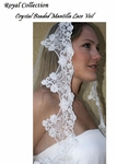 Royal Collection - Dramatic Crystal Lace Mantilla Bridal Veil - SALE