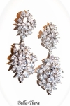 ROYAL COLLECTION - Dramatic elegance CZ wedding earrings - BLOWOUT