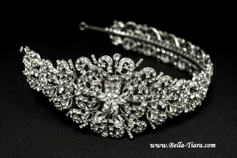 Royal Collection - Dramatic Swarovski crystal wedding headband - SALE