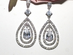 Royal Collection - Gorgeous CZ drop Bridal earrings - Back in stock