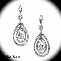 Royal Collection - Gorgeous CZ drop Bridal earrings - Back in stock amazing price