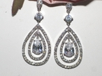Royal Collection - Gorgeous CZ drop Bridal earrings - SPECIAL one left
