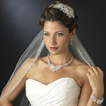 Royal collection - Gorgeous Silver edge dramatic veil - SPECIAL
