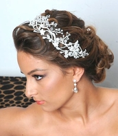 Royal Collection - Kara Stunning swirl swarovski crystal headband - SALE!!