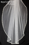 Royal Collection - McKenna Crystal beaded edge wedding veil - SPECIAL