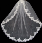 Royal Collection - Romantic beaded mantilla style bridal veil - SALE