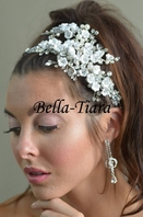 Royal Collection - Romantic floral crystal bridal hair clip - SALE one left