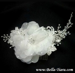 Royal Collection - Romantic floral crystal wedding headpiece - SALE